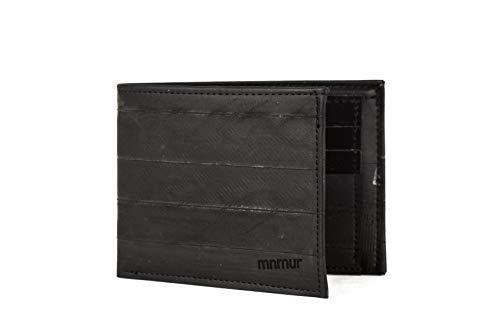 Herren Geldbörse aus recyceltem Fahrradschlauch mit schwarzem Kartenschlitze
