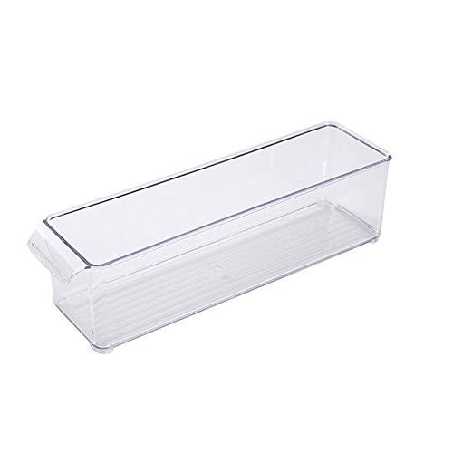 Glossrise Plastic Storage Bin with Handles for Kitchen, Fridge, Freezer, Pantry, and Cabinet Organization, BPA-Free Plastic Kitchen Pantry Cabinet, Refrigerator Or Freezer Food Storage Bins