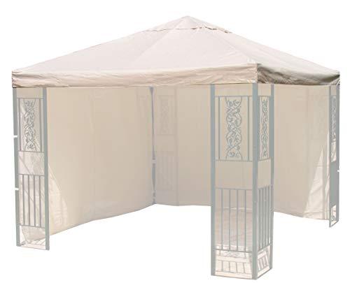 QUICK STAR Ersatzdach Roma Garten-Pavillon 3x3m Ersatz-Plane Bezug Sand
