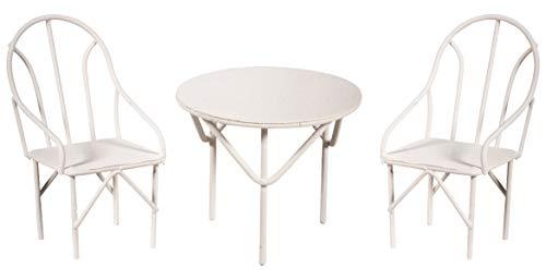 RAYHER juego de sofás 3 piezas, 2 sillas más 1 mesa, 1 juego, blanco, 18 x 13 x 5.8 cm, 46066102