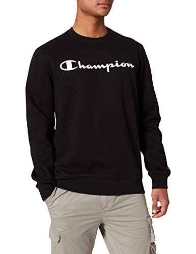 Champion Herren Legacy Classic Logo Sweatshirt, Schwarz, XL