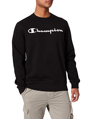 Champion Legacy Classic Logo Felpa, Nero, M Uomo