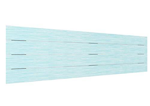 LA WEB DEL COLCHON - Cabecero de Madera Rústico Vintage para Cama de 150 (160 x 44 cms.) Turquesa | Cabeceros Madera | Dormitorio Matrimonio | Cabezal Cama |Estilo nórdico