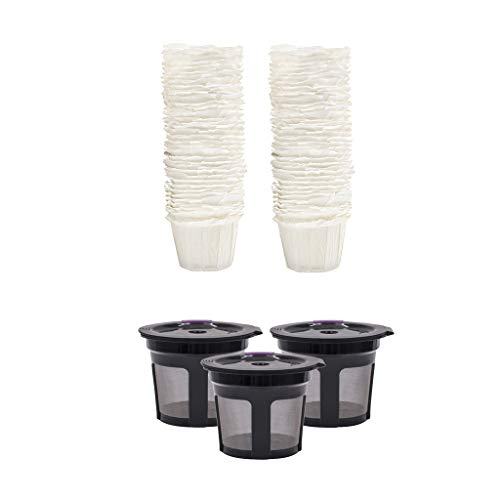 freneci 3X K Cups 100-pack Filtro de Papel Desechable para BPA Free Fácil de Usar