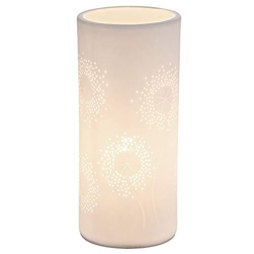 Tafellamp van porselein, 24 x 11 x 11 cm, wit mat