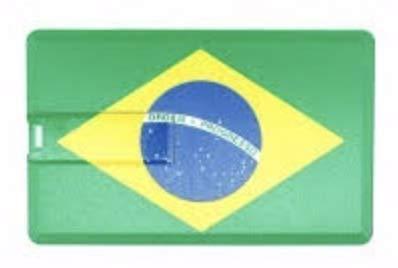 USB494 16GB-32GB PLÁSTICO Bandera Brazil Brasil (32GB)