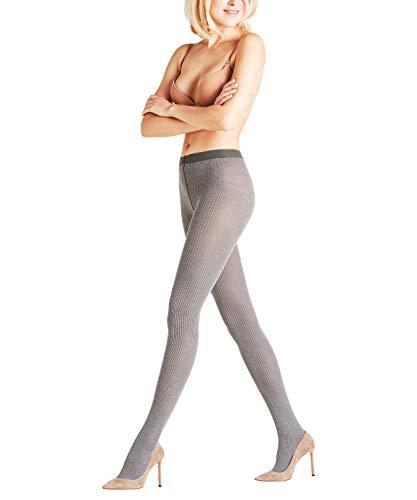 FALKE Damen Strumpfhosen Free Style, Baumwolle/Wollmischung, 1 Stück, Grau (Light Grey Melange 3390), Größe: L