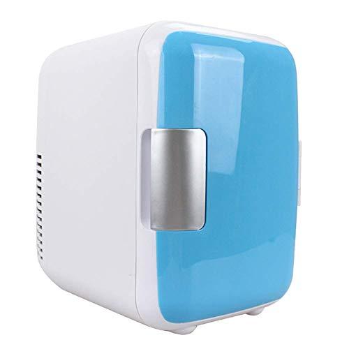 Reuvv Mini Kühlschrank 4 Liter Makeup Kühlschränke Dual-Use Kompakt, Tragbar und Leise AC + Gleichstrom Kompatibilität für Haus Zimmer Auto - Blau