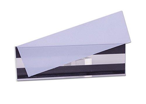 Etikettenhalter für Einstecketiketten, Magnetische Etikettenhalter, 100 mm x 33 mm, Transparent (50-er Pack)