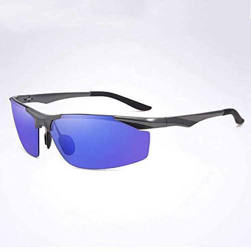 Gafas de sol súper ligeras,lentes polarizadas de alta definición de aleación de aluminio y magnesio,gafas deportivas de media montura para pesca y ciclismo,brindan protección segura y cómoda para sus