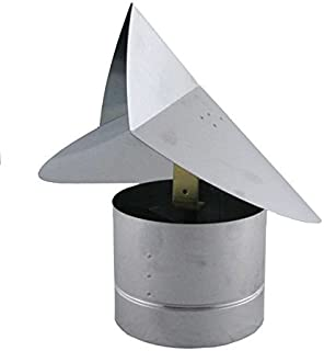 Wind Directional Chimney Cap - Stainless Steel 8 inch