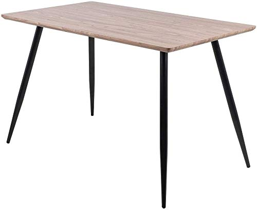 Mesa de Comedor Mesa de Cocina de Madera MesaCuadrada de Estilo Industrial con Patas de Metal120 x 70 x 75 cm
