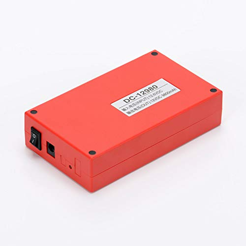 ABENIC DC 12V 9800mAh Super Rechargeable Protable Li-ion Lithium Battery DC12980 (RED)