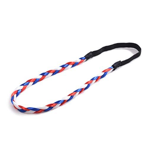 Lurrose Premium Duurzame Elastische Vlag Gevlochten Hoofdband Sport Hoofdbanden Haarbanden voor Basketbal Gym 2018 WK Voetbal Workout