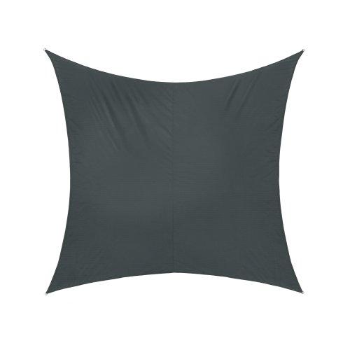 jarolift Sonnensegel Quadrat wasserabweisend, 500 x 500 cm, anthrazit