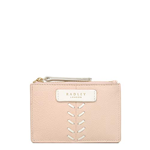 Radley Smith Row Small Credit Card Holder in Pink Leather