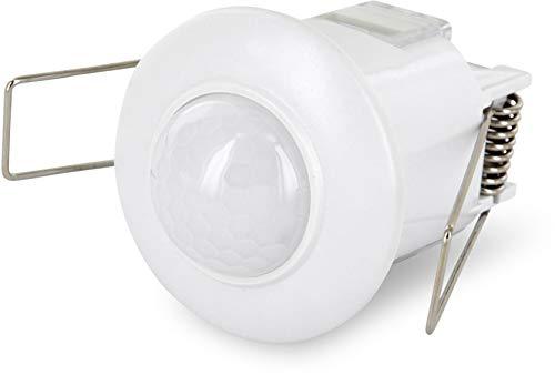 Inbouw IR mini bewegingsmelder 360 ° - plafondinbouw - geschikt voor LED - 800W 230V
