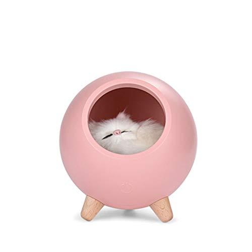 Bewegliches Nachtlicht, USB-Katzen-Haustier-Haus-Nachtlicht Einstellbare Soft Light Geeignet für Desktop-Bedside-Bett mit Lampe Schlafen