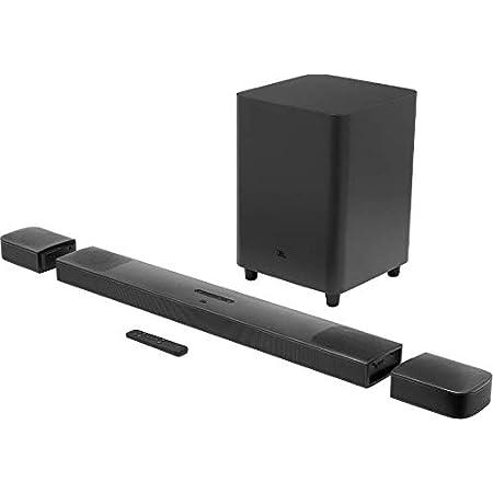 JBL Bar 9.1 Barra de Sonido con la Potencia de Dolby Atmos, Subwoofer y 2 Altavoces Envolventes Inalámbricos y Soporte de Streaming, Color Negro