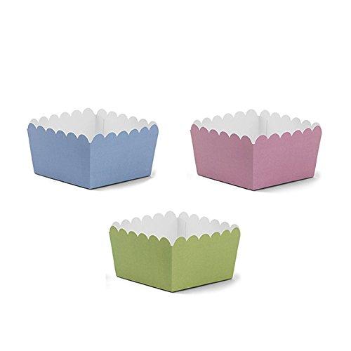 Simplydeko Pappbecher | Candy Bar Snack Cups | Schalen für EIS oder Fingerfood | für Party, Hochzeit, Kindergeburtstag (Pastell)