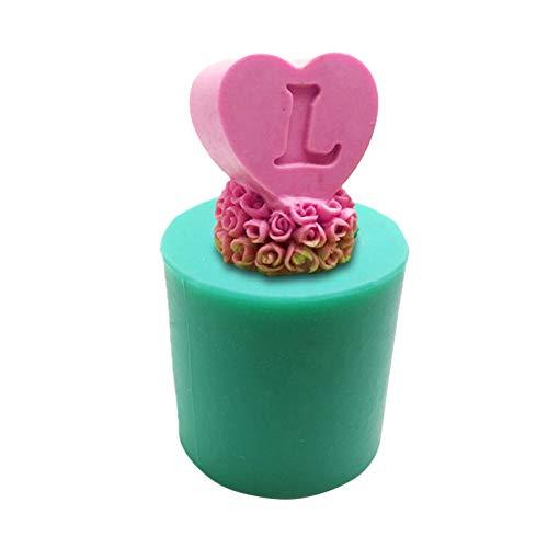 N/Z Molde de silicona con forma de corazón, 3D, forma de vela de cristal, resina epoxi, molde de chocolate, molde para galletas, artesanía, decoración de mesa, boda