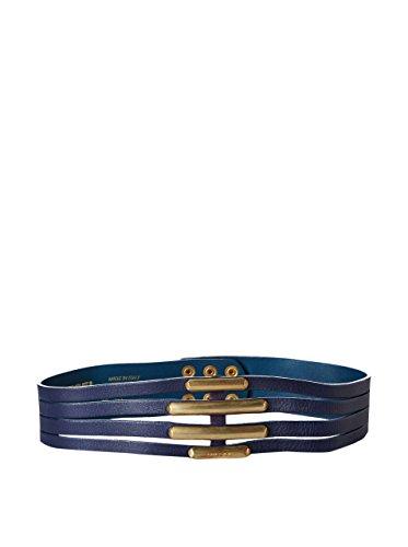 Diesel Ledergürtel in Blau mit Metallpins 00C5VI00SEC 114 Blue gr 80 cm
