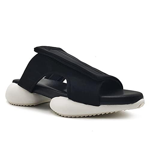 NJZYB Diapositivas Zapatos De Hombre Zapatillas Zapatillas De Exterior Zapatillas De Playa Informales Zapatillas De Plataforma Informales Con Punta Abierta (Color : A, Size : 44yards)