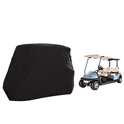WWWANG Durable Golf Cart Covers, wasserdichte staubdichte Abdeckung mit Kordelzug und Reißverschluss, Fit for die meisten Golf-Wagen (Color : 420D, Size : 285X122X168CM)
