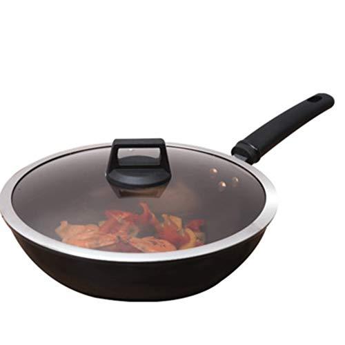 Non Stick roer Fry pan Non Stick, Geschikt voor diverse kachels zoals Induction Cooker Gas kachels 32CM, Geschikt voor 1-5 personen, Gebruikt voor het bakken van biefstukken, Koken, Makkelijk schoon te maken