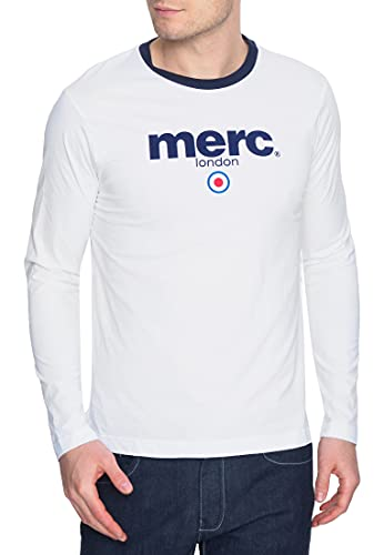 Merc of London Fight, T-Shirt, Blanc (White), Large (Taille Fabricant: L) Homme