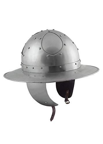 Ulfberth Eisenhut mit Wangenklappen, 2mm Stahl, Gr. L Schaukampf Helm Mittelalter Kettle Hat Battle Ready
