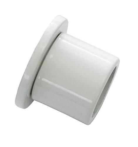 GARDINIA Wandlager für Gardinenstangen mit Durchmesser 20 mm, Inklusive Befestigungsmaterial, Wandmontage, Metall, Weiß