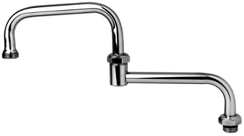 TS Brass 067X Double Jointed Swing Spout, Chrome by T&S Brass