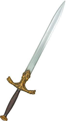 Das Kostümland Drachentöter Schwert zum Ritter Kostüm - Gold Silber 92 cm - Zubehör Mittelalter Ritterkostüm Schlangenschwert Ritterschwert Burgfest Ritterspiele