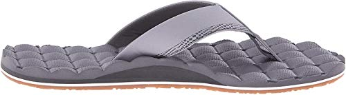 Volcom Men's Recliner Sandal Flip Flop, Light Grey, 10 N US
