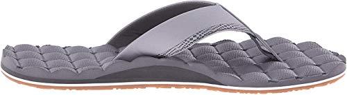 Volcom Men's Recliner Sandal Flip Flop, Light Grey, 11 N US