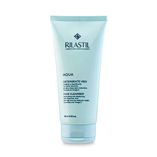 Rilastil Aqua - Limpiador Facial Suave y Cremoso con Acción Hidratante, Reequilibrante y Emoliente para Todo Tipo de Pieles - 200 ml