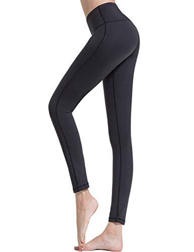 Croslimit Damen Yoga Leggings - Upgrade hoher bund Tummy Control - Hidden Pocket - Plus Size Sport Leggings Running Tights Training hose Casual Trousers (S, Schwarz(Bund Tasche))
