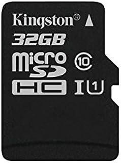 Kingston SDC10G2/32GBSP microSD Klasse 10 bis zu 45MB/s Speicherkarte (Nur Karte)