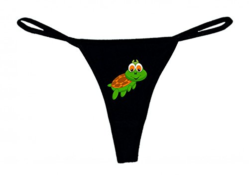 String Tanga SCHILDKRÖTE- Tier- Cartoon- Zoo- LUSTIG- Comic XS- XXL Damen String Sexy Unterhose