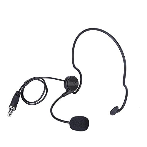 Socobeta Kopfhörer Ham Radio NATO Stecker Nackenbügel verlustfrei bequem Kopfhörer leicht mit Mikrofon für Radio Amateur