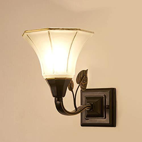 ZHAOHUIYING Glazen wandlamp Moderne kaars creatieve kunst lamp bar retro Amerikaanse nacht wijnfles persoonlijkheid gang dakverdieping licht Jane met bloemblad wind