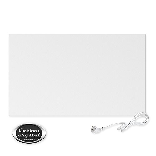 Viesta H600 panneau de chauffage infrarouge Crystal Carbon (dernière technologie) panneau radiateur ultra mince chauffage mural blanc - 600 Watt