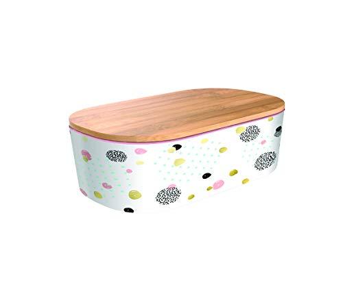 Bamboofriends Lunchbox Deluxe - Dotted Pattern Gold mit Fächeraufteilung 21cm x 13cm x 7cm