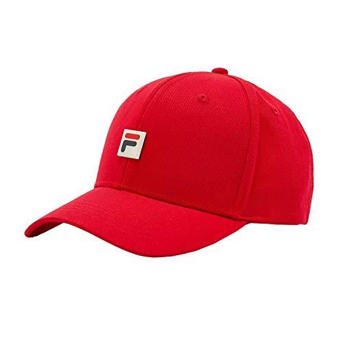 Fila LA038171 - Berretto da baseball classico, unisex, taglia unica, colore: Rosso