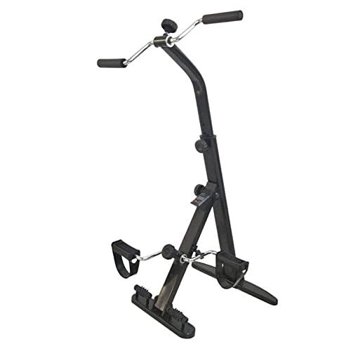WANGXN Mini Bicicleta EstáTica Pedales Plegable Pedaleador LCD Pantalla Máquinas De Brazos Y Piernas Entrenamiento Resistencia Ajustable para Hacer Ejercicio En Casa