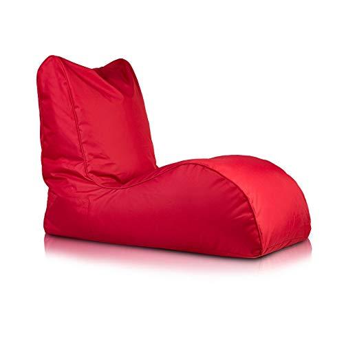 Bepouf Poltrona Chaise Longue Puf Pouf Dimensioni 110x80 Poliestere Pieno (Rosso)