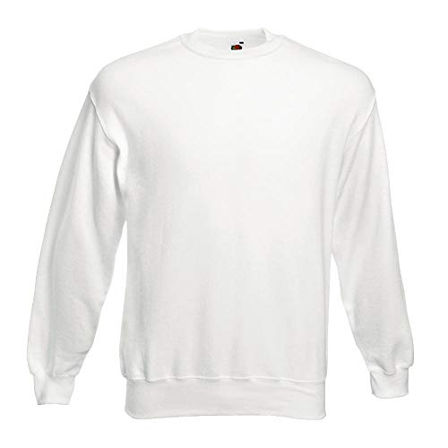 Fruit of the Loom - Sweatshirt 'Set-In' XL,White
