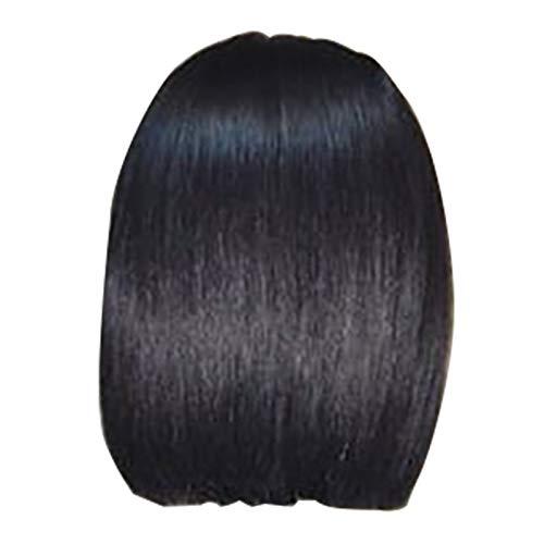 SODIAL Perruque Brésilienne de Cheveux de Remy Brésilien de Perruque de Cheveux Humains Avant de Lacet Court Avec Le Pré Plié