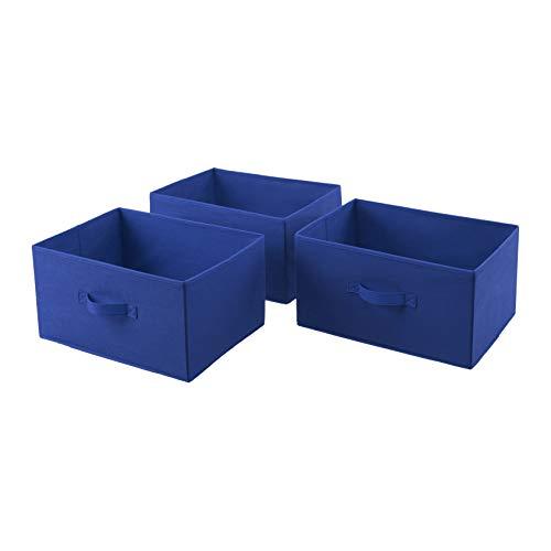AmazonBasics Cajones de repuesto para unidad de almacenamiento de tela con 3 cajones, azul real